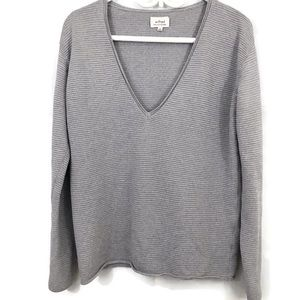 Wilfred Ribbed V Neck Silk Cashmere Blend Sweater